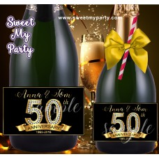 50th 60th 40th 30th Anniversary Champagne labels, Anniversary Champagne Bottle labels,(1aa)