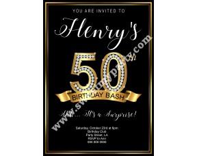 50th 60th 40th 30th Birthday Invitation