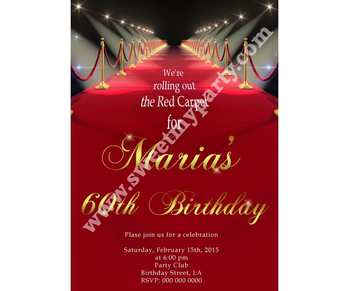 Hollywood Red Carpet Birthday Invitation08ab