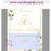 Ivory Roses 50th Anniversary welcome sign template,50th Anniversary welcome sign,(123)