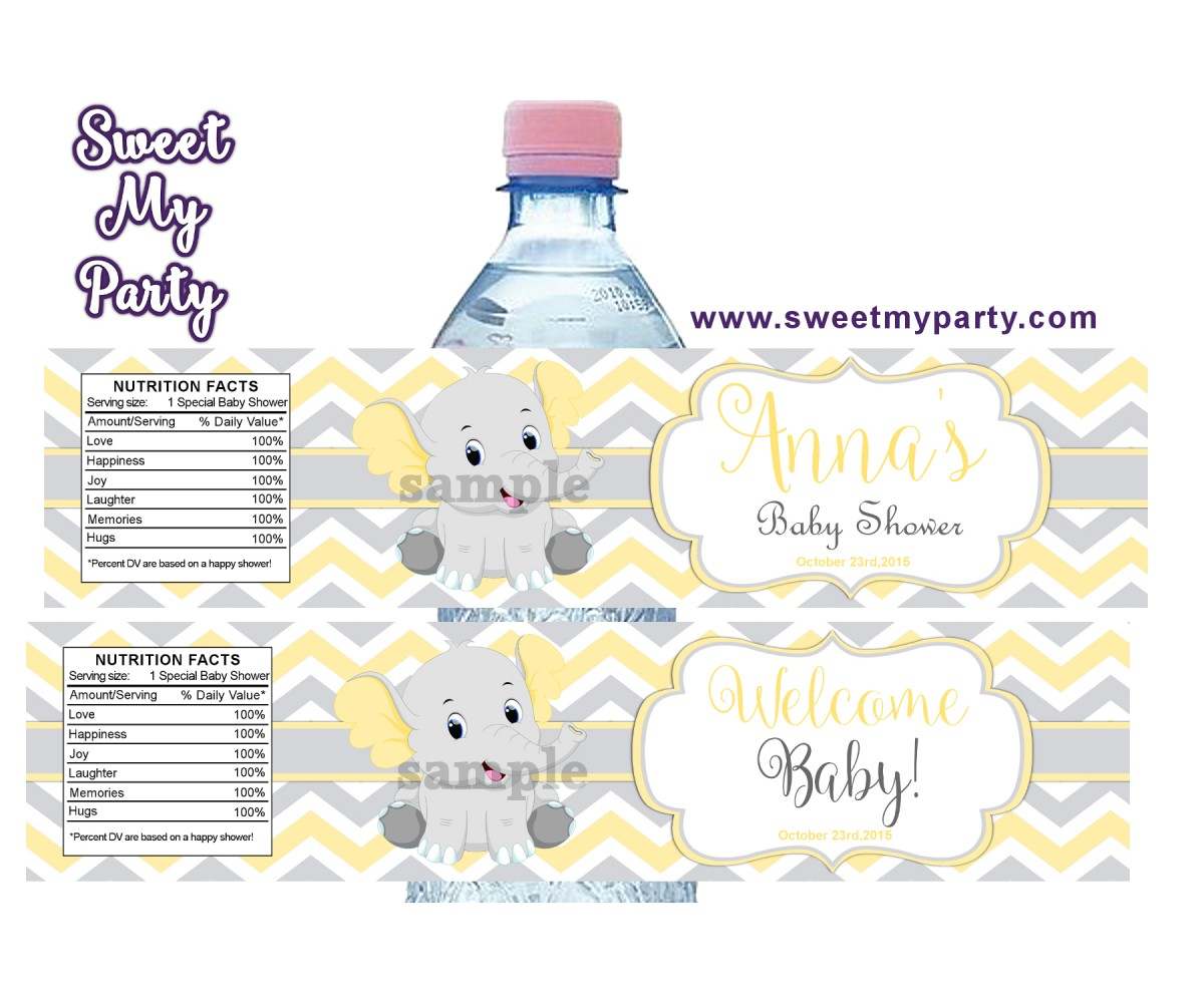 baby shower bottle labels with photo|baby shower party ideas