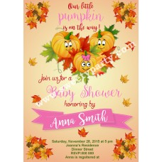 Pumpkin Baby Shower Invitation, (001bspump)