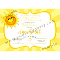 My Little Sunshine Gender Reveal Baby Shower Invitation,(04bbg)