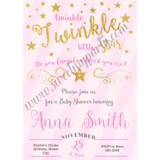 Twinkle Twinkle Little Star Girl Baby Shower,(003)