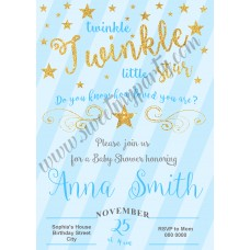 Twinkle Twinkle Little Star Boy Baby Shower,(003)