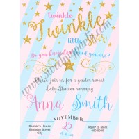 Twinkle Twinkle Little Star Gender Baby Shower,(006)