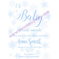 Winter Wonderland Baby Shower Invitation,(blue3)