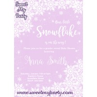 Winter Wonderland gender Baby Shower Invitation,(005)