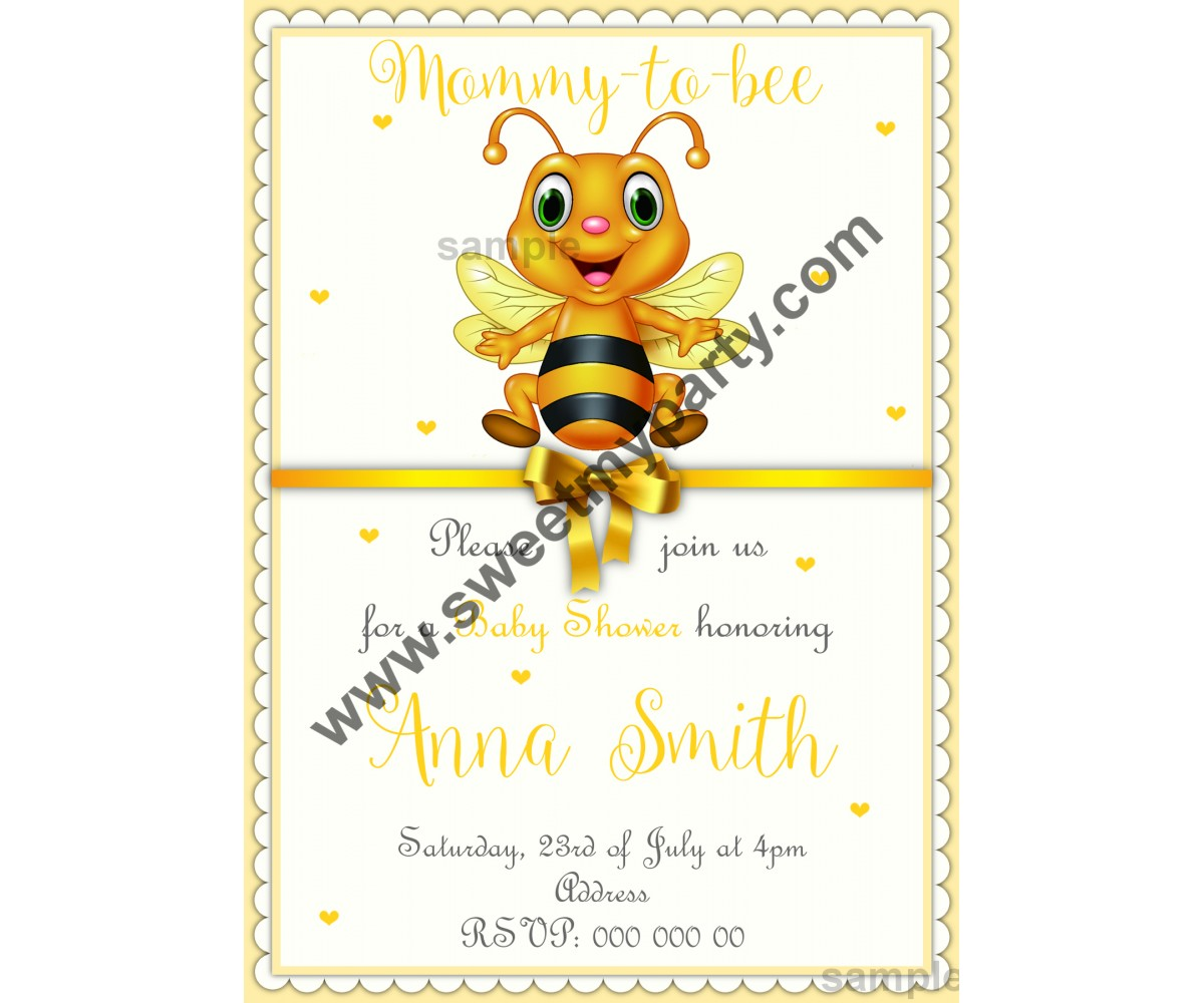 Mommy to bee Baby Shower Invitation,(01beebb)