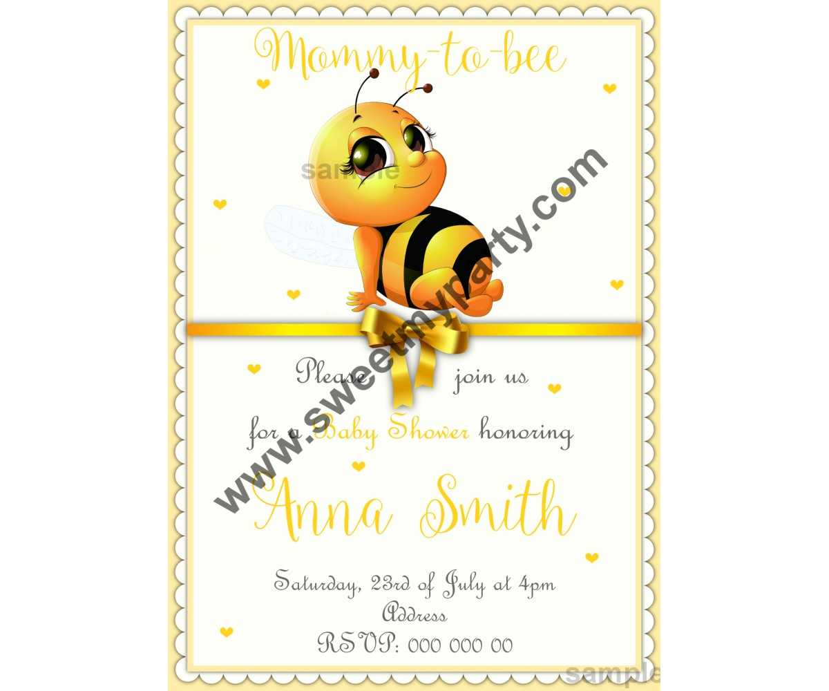 Mommy to bee Baby Shower Invitation,(02beebb)