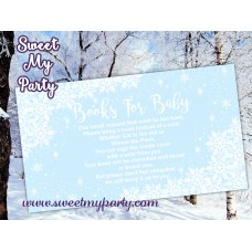 Winter Wonderland Baby Shower blue books for baby tickets,(blue 5)