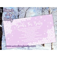 Winter Wonderland gender Baby Shower books for baby tickets,(gender 5)