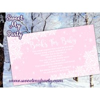 Winter Wonderland Baby Shower pink books for baby tickets,(pink 5)