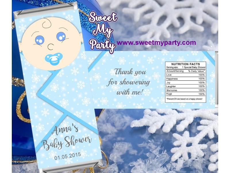 Winter Wonderland Baby Shower Candy Bar Wrappers Winter Wonderland