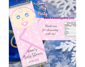 Winter Wonderland Baby Shower candy bar wrappers