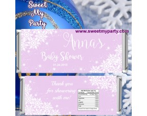 Winter Wonderland Gender Baby Shower candy bar wrappers,(gender 5)