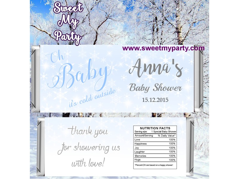 Winter Wonderland Baby Shower Candy Bar Wrappersbaby Its Cold