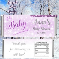 Winter Wonderland Baby Shower candy bar wrappers,(gender 4)