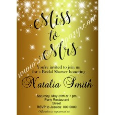 Gold Sparkle Bridal Shower Invitation,Golden bridal Shower invitation,Glitter Bridal Shower invite,(07brsh)