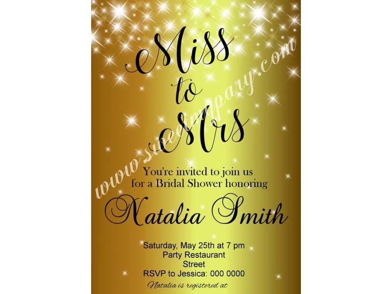 Gold sparkle bridal shower invitationgolden bridal shower gold sparkle bridal shower invitationgolden bridal shower invitationglitter bridal shower invite filmwisefo