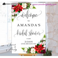 Winter Bridal Shower welcome sign template,Bridal Shower welcome sign,(154)