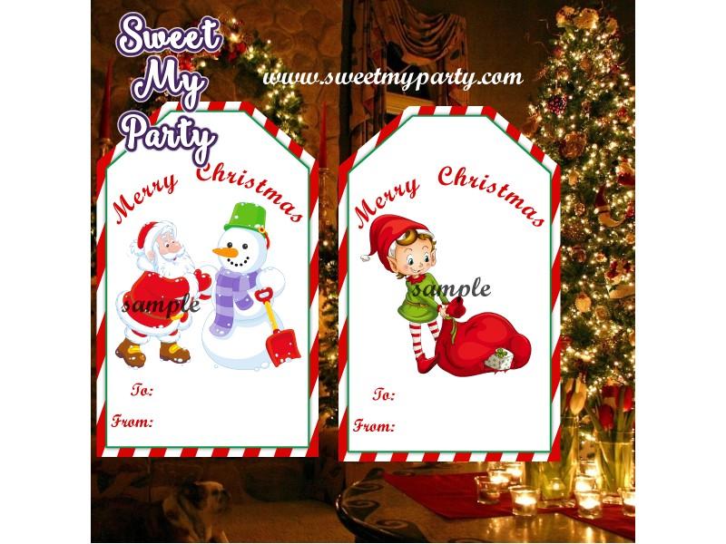 christmas gift tags santa gift tags christmas gift labels christmas