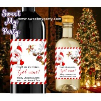 Christmas wine Labels,Mini Wine Labels,Christmas Mini Wine Labels,(005ch)