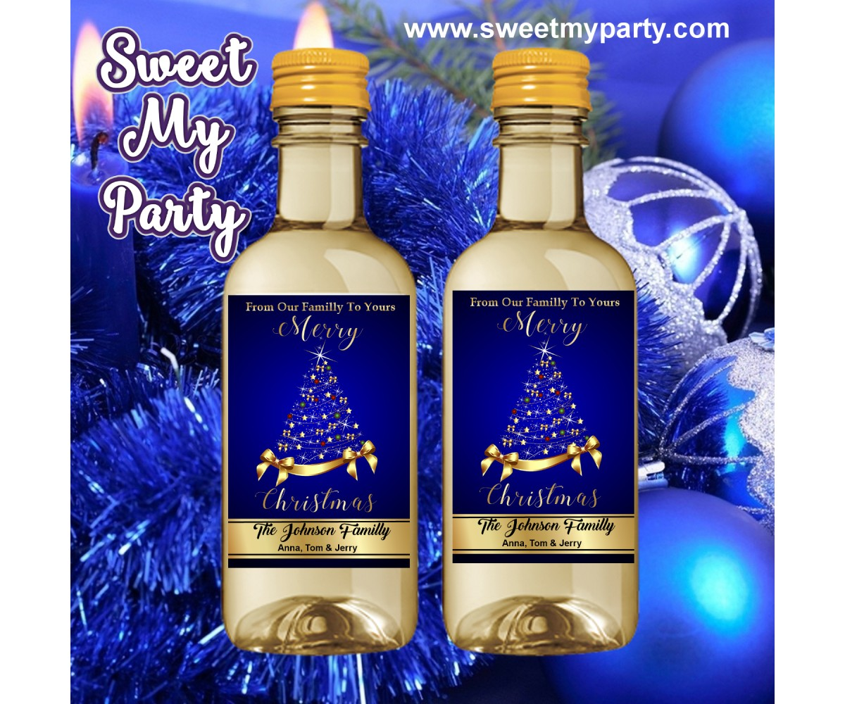 Christmas Wine Labels,Christmas Mini Wine Labels,Gold Mini Wine  Labels,(003ch)