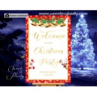 Christmas Party Welcome Sign,Holiday Party Welcome sign,(011ch)