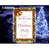 Christmas Party Welcome Sign,Holiday Party Welcome sign,(008ch)