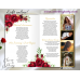 Red Roses Funeral Program 8 pages,Red Roses Memorial Service Program,(16f)