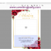 Red Roses Funeral Welcome Sign, Funeral Welcome Poster, (16)