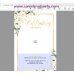 Ivory Roses Funeral Welcome Sign, Funeral Welcome Poster, (123)
