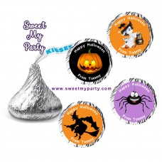 Halloween Hershey Kisses Stickers,Personalized Halloween Hershey stickers