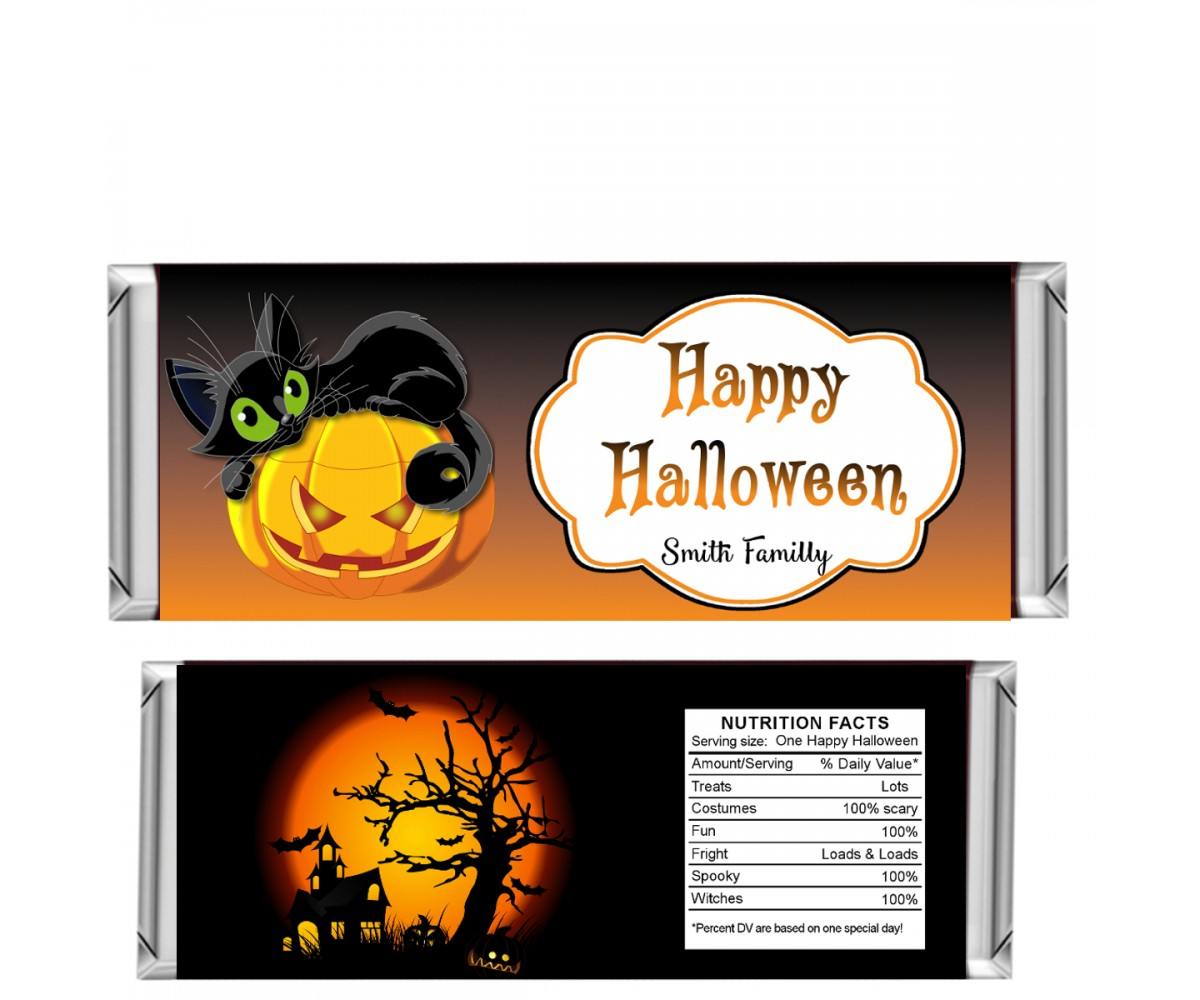 Halloween Candy Bar Wrappers, design 01