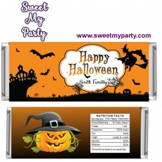 Halloween Candy Bar Wrappers, design 02