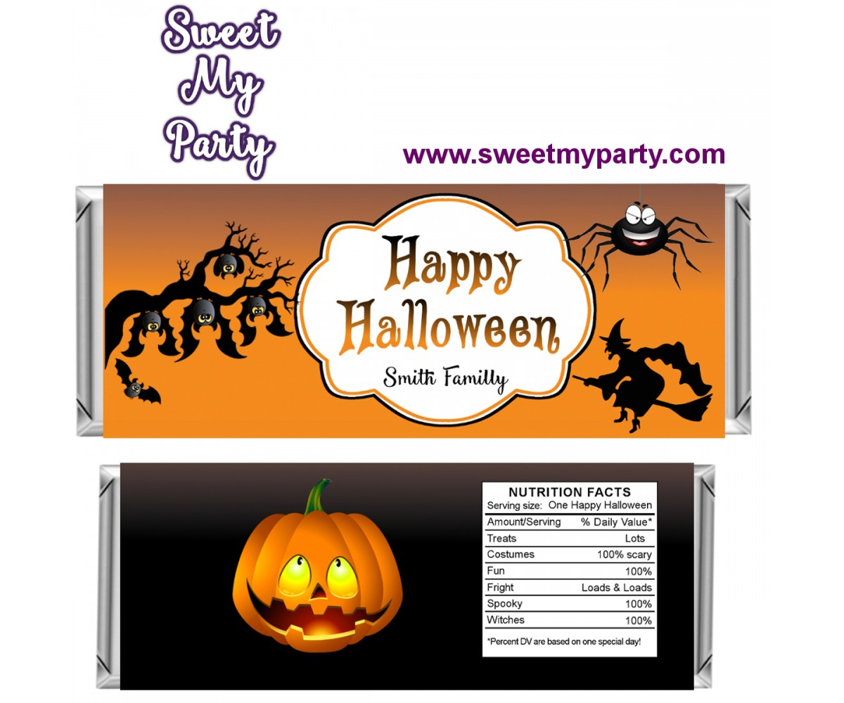 Halloween Candy Bar Wrappers, design 05