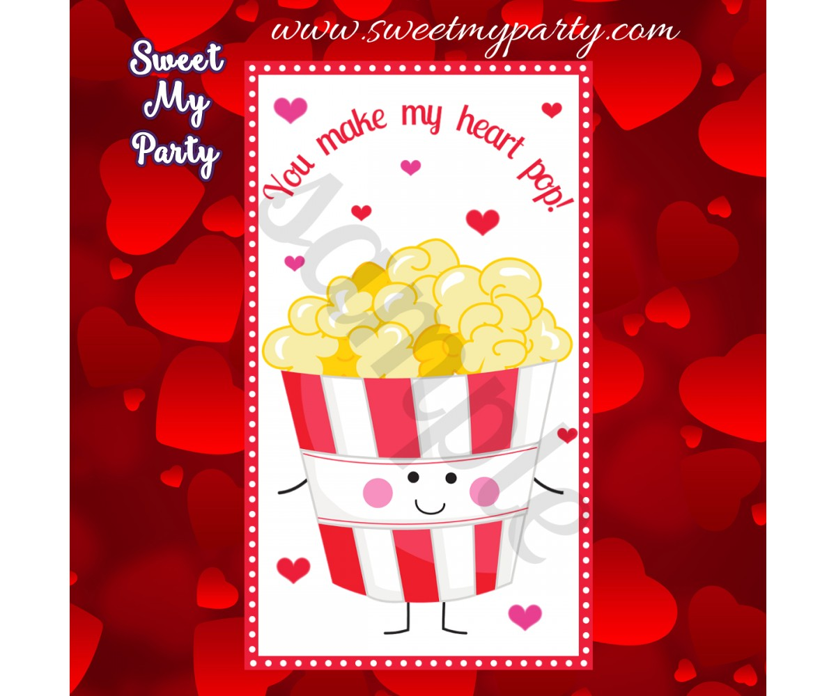 You make my heart pop valentines stickers,(1)