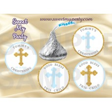 Boy Baptism Hershey Kisses Stickers,Christening Hershey kisses stickers,(1)