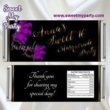 Sweet 16 Masquerade Bal candy bar wrappers,Quinceanera Masquerade Party candy bar wrappers,(010swee)