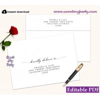 Modern Calligraphy Envelope addressing,Envelope Address Labels,(47)