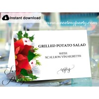 Winter Wedding Food Labels,Christmas Buffet Labels template,(154)