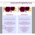 Burgundy gold menu cards printable template,(149)