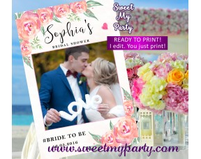 Floral Wedding Photo Booth Props Framefloral Wedding Photo Frame