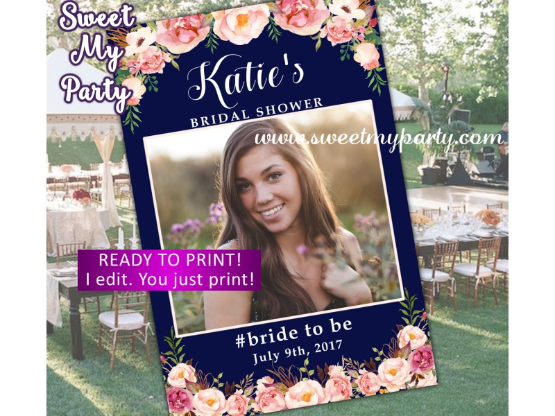 Floral Wedding Photo Booth Props Framefloral Bridal Shower Photo Booth Props Framefloral Baby Shower Photo Framedesign 036w