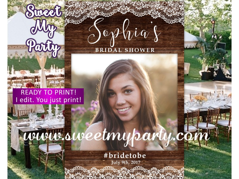 Rustic Wedding Photo Booth Props Framerustic Bridal Shower Photo Booth Props Frame37w