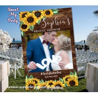 Sunflowers Wedding photo booth props frame,Sunflowers Bridal Shower photo booth props frame,(44w)