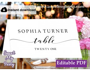 Modern Calligraphy Escort Cards template,Calligraphy Place Cards template, (47)