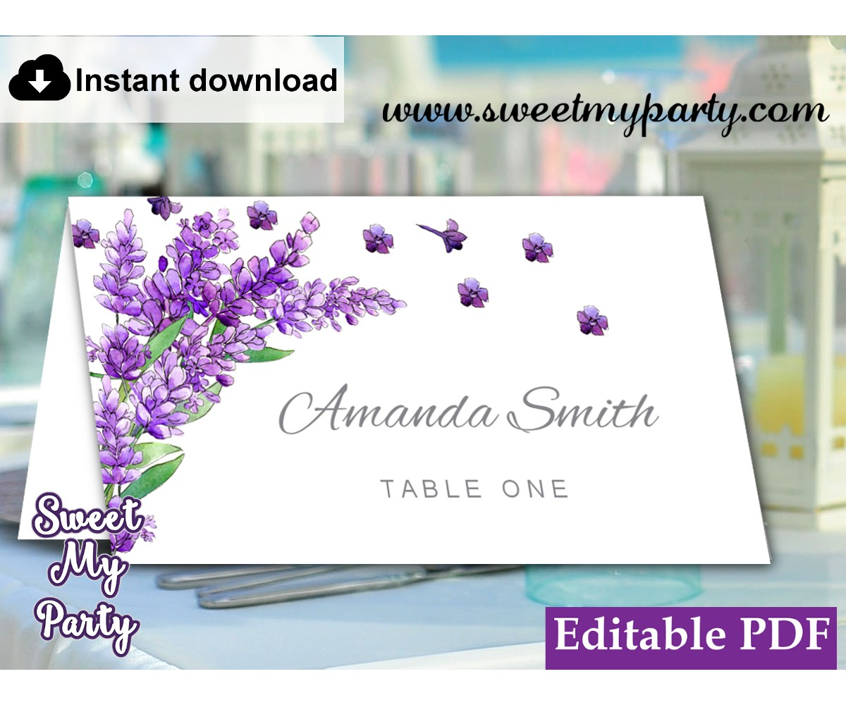 photograph about Printable Escort Cards named Lavender Escort Playing cards template printable,Lavender Desired destination Playing cards template,(131)