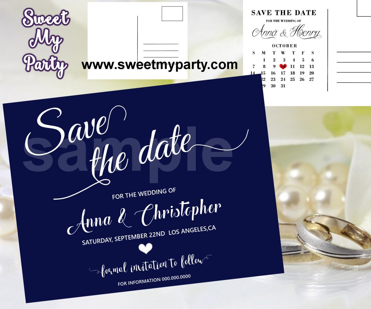 Wedding Save The Dates.Navy Blue Wedding Save The Date Cards Navy Blue Wedding Save Our Date 00b